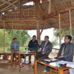 Mr. Aduk Paron, DFO, Dibang (Territorial) Forest Division convey some points during the meet